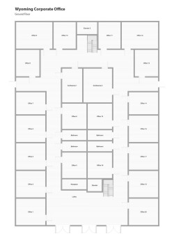 Virtual office layout for Wyoming Corporate Office ground floor